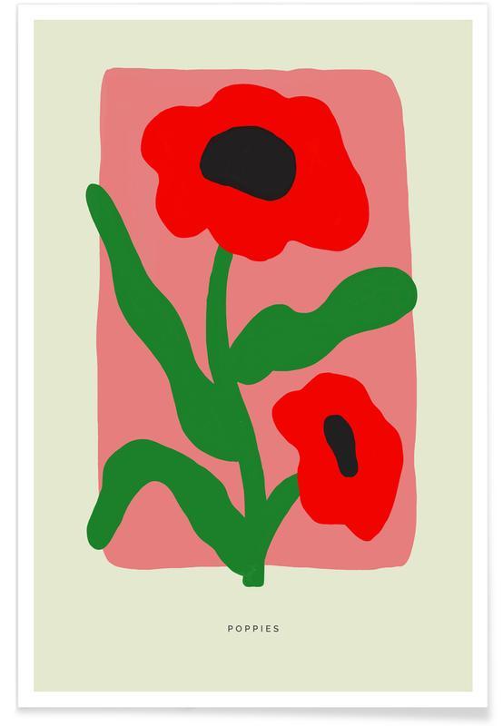 Mohnblumen, Poppies II -Poster