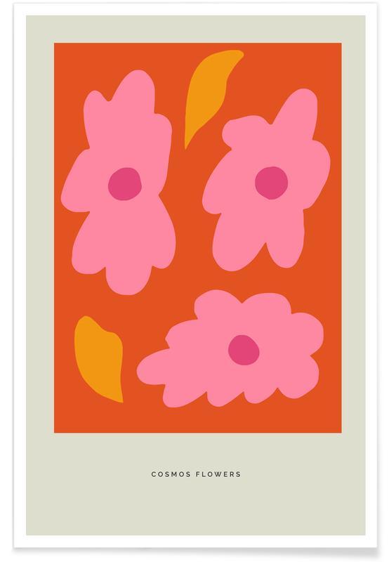 , Cosmos Flowers II Poster