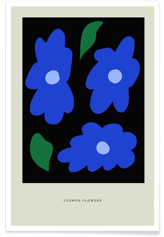 , Cosmos Flowers Poster