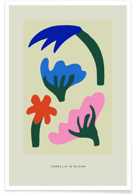 , Camellia In Bloom I affiche