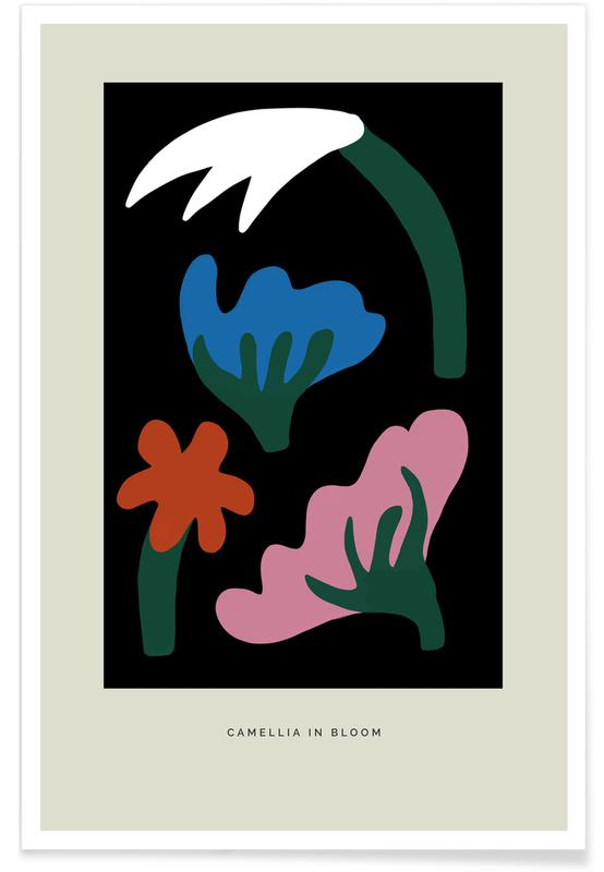 , Camellia In Bloom II Poster
