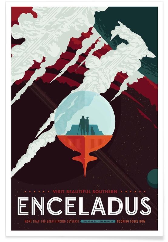 Travel, Vintage Travel, Enceladus Poster