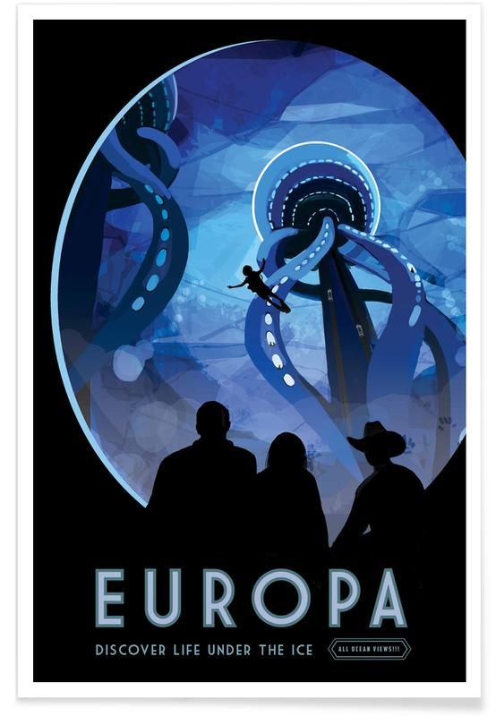 Voyages, Vintage voyage, Europa affiche