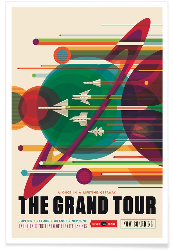 Voyages, Vintage voyage, Grand Tour affiche