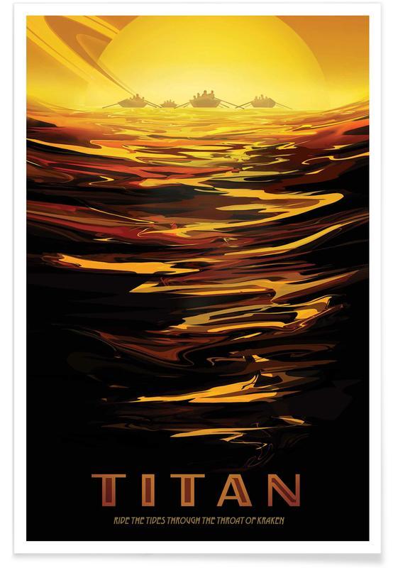 Travel, Vintage Travel, Titan Poster