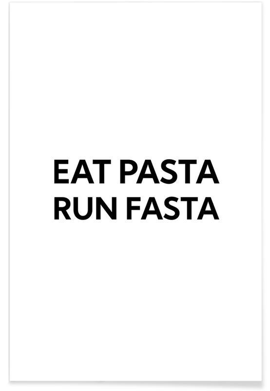 Schwarz & Weiß, Motivation, Fasta Pasta -Poster