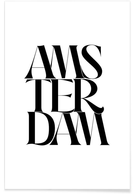 Zwart en wit, Quotes en slogans, Amsterdam poster