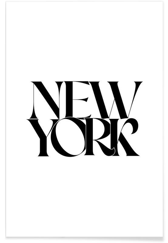 Noir & blanc, Citations et slogans, New York affiche