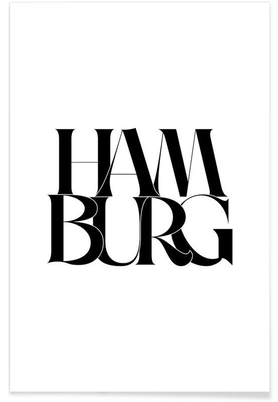 Noir & blanc, Citations et slogans, Hamburg affiche