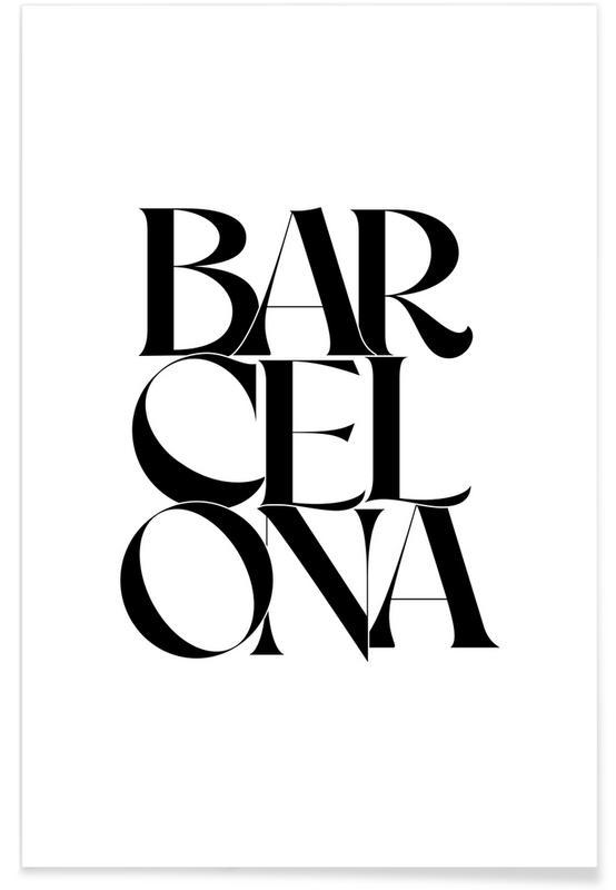 Schwarz & Weiß, Zitate & Slogans, Barcelona -Poster