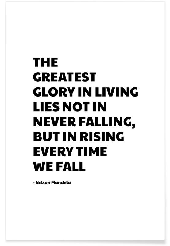 Black & White, Quotes & Slogans, Every Time We Fall Poster