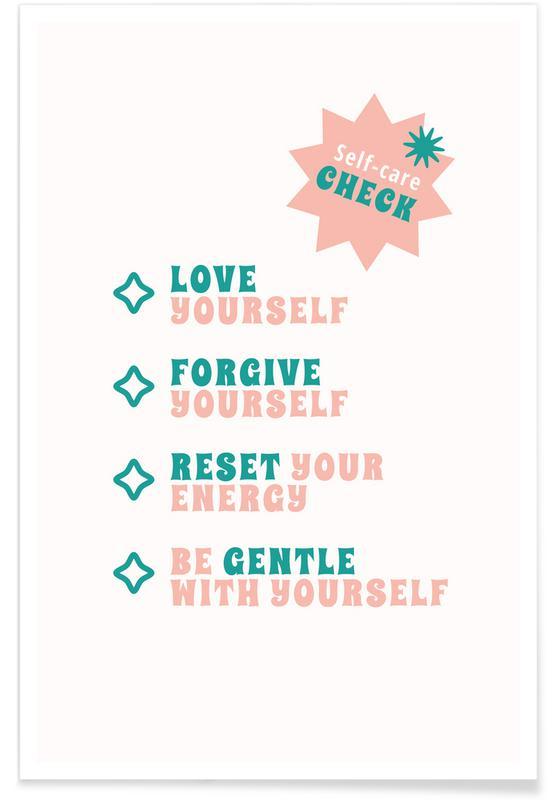Zitate & Slogans, Self-Care Check -Poster