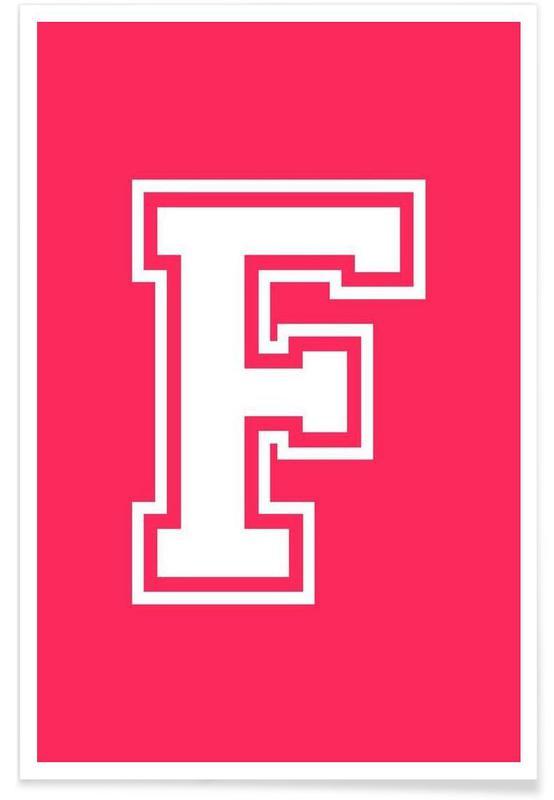 Alphabet et lettres, F affiche