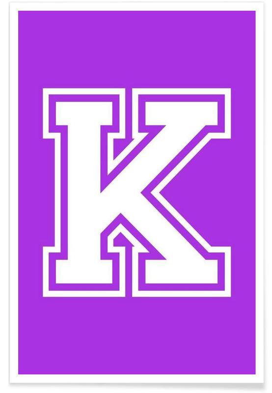 Alfabet og bogstaver, K Plakat