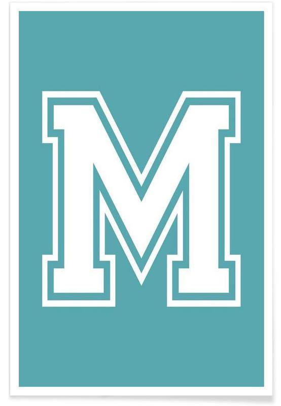 Alfabet og bogstaver, M Plakat