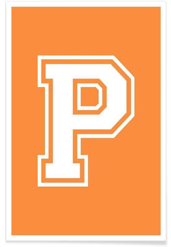 Alphabet et lettres, P affiche