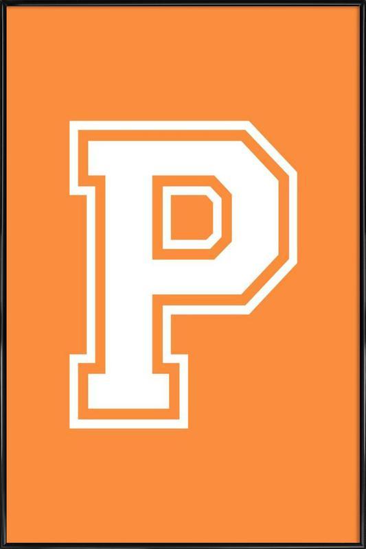 P affiche encadrée