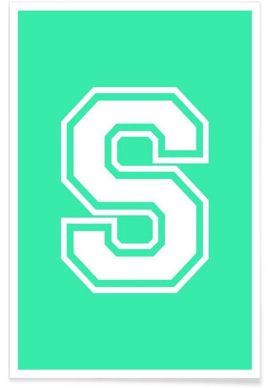 Alphabet et lettres, S affiche