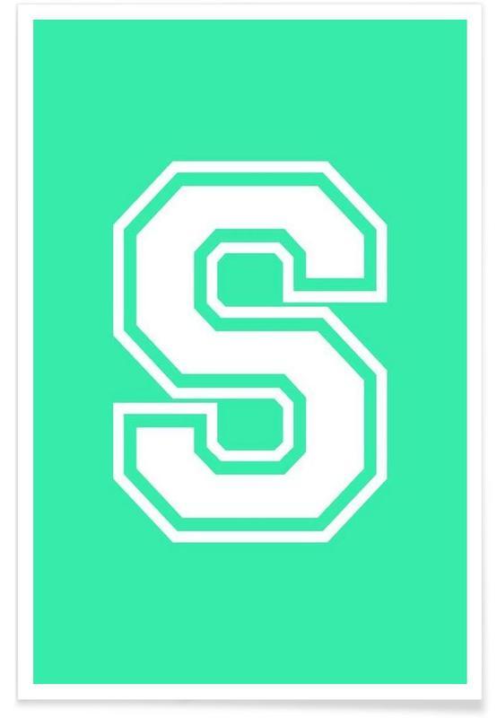 Alfabet og bogstaver, S Plakat