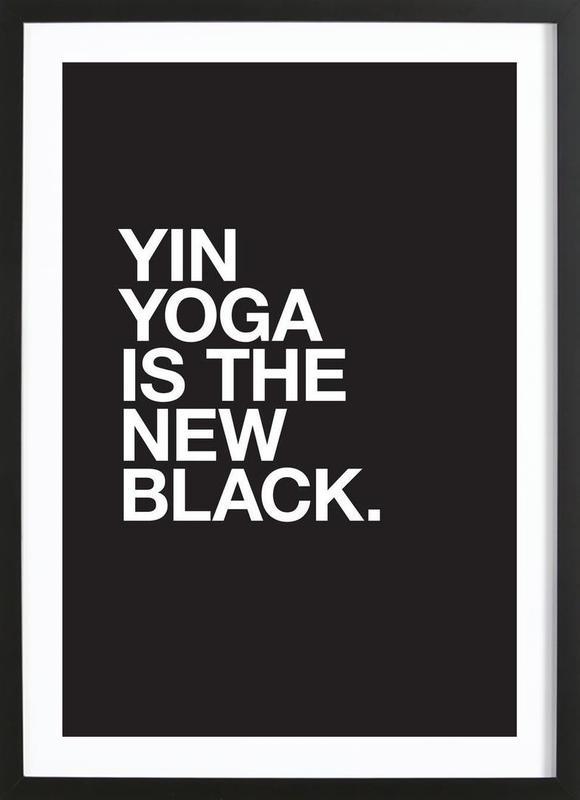 Yin Yoga affiche sous cadre en bois