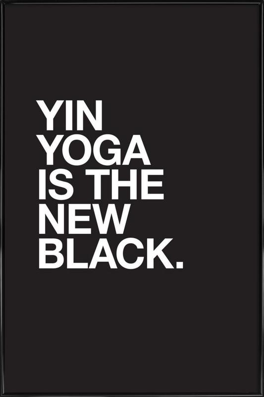 Yin Yoga -Bild mit Kunststoffrahmen