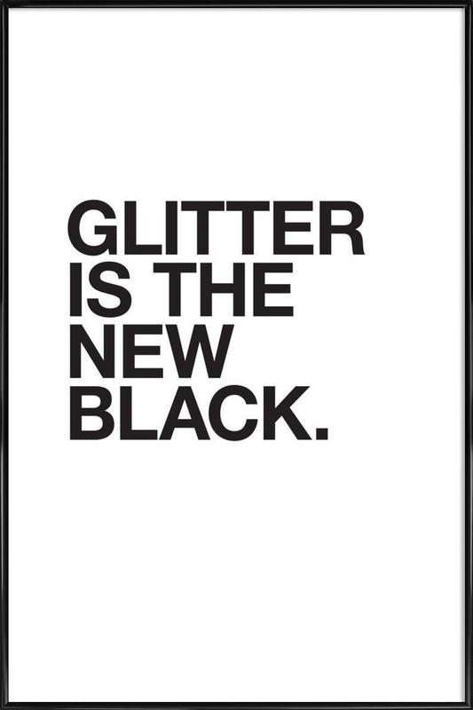 Glitter black Framed Poster