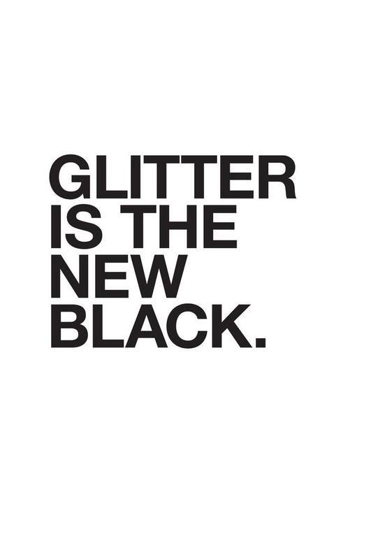 Glitter black Acrylic Print