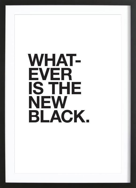 Whatever black Framed Print