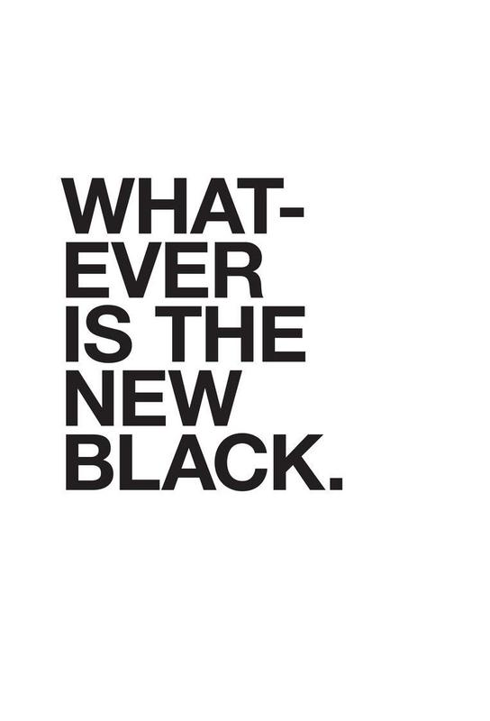Whatever black Aluminium Print