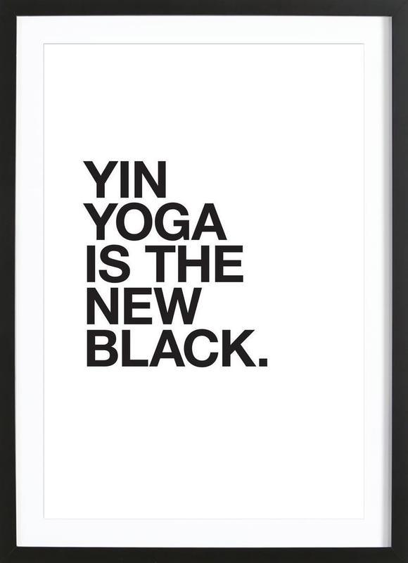 Yin Yoga black Poster i träram