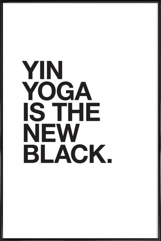 Yin Yoga black affiche encadrée