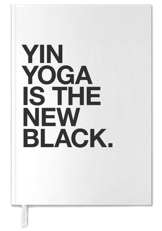 Yin Yoga black Personal Planner