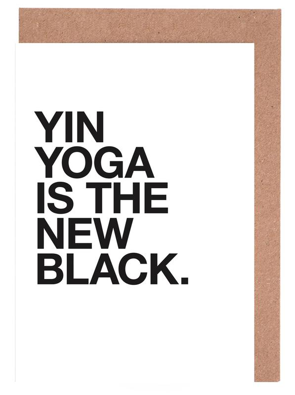Yin Yoga black cartes de vœux