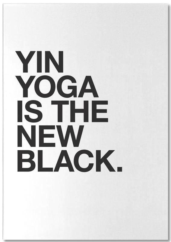 Yin Yoga black -Notizblock