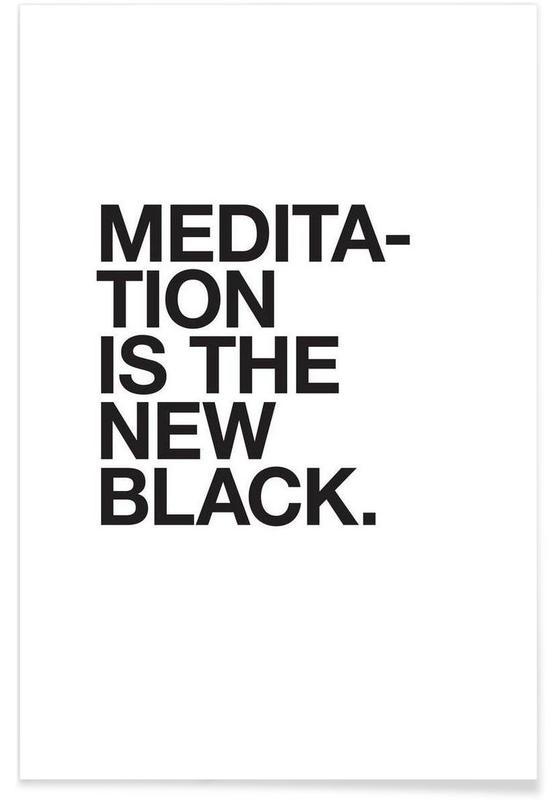 Meditation black affiche