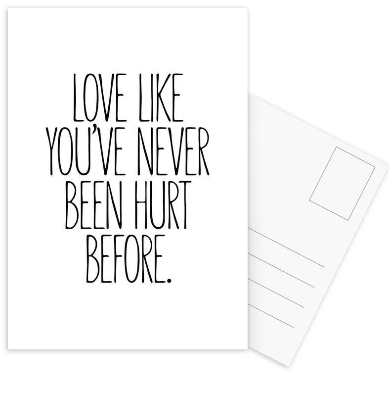 Zwart en wit, Motivatie, Quotes en slogans, Liefdescitaten, Love ansichtkaartenset