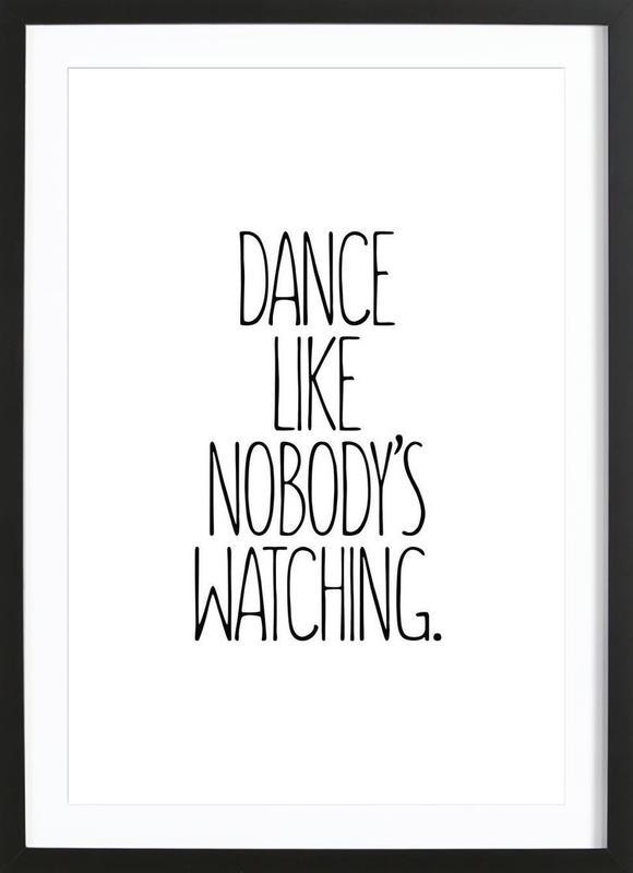 Dance Poster i träram