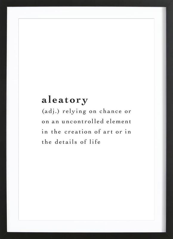 Aleatory Framed Print