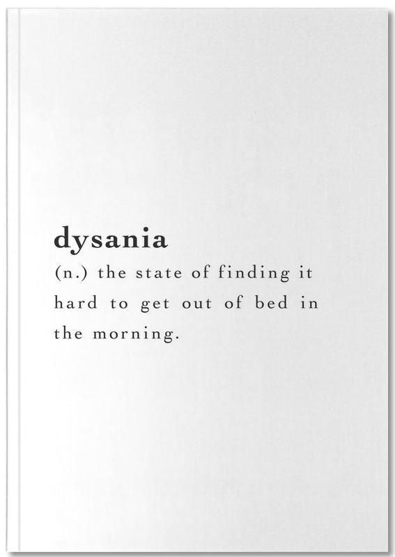Noir & blanc, Humour, Dysania Notebook