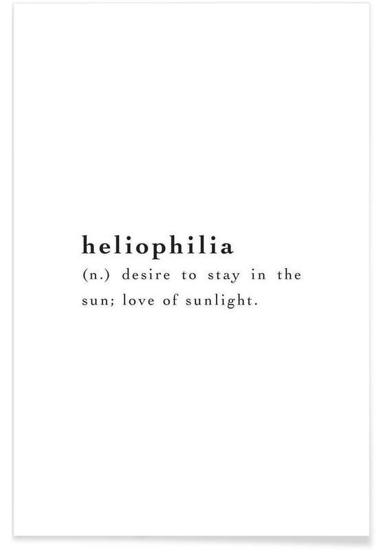 Noir & blanc, Heliophilia affiche