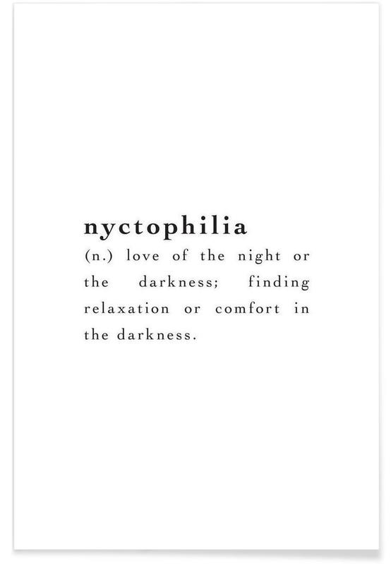 Noir & blanc, Citations et slogans, Nyctophilia affiche