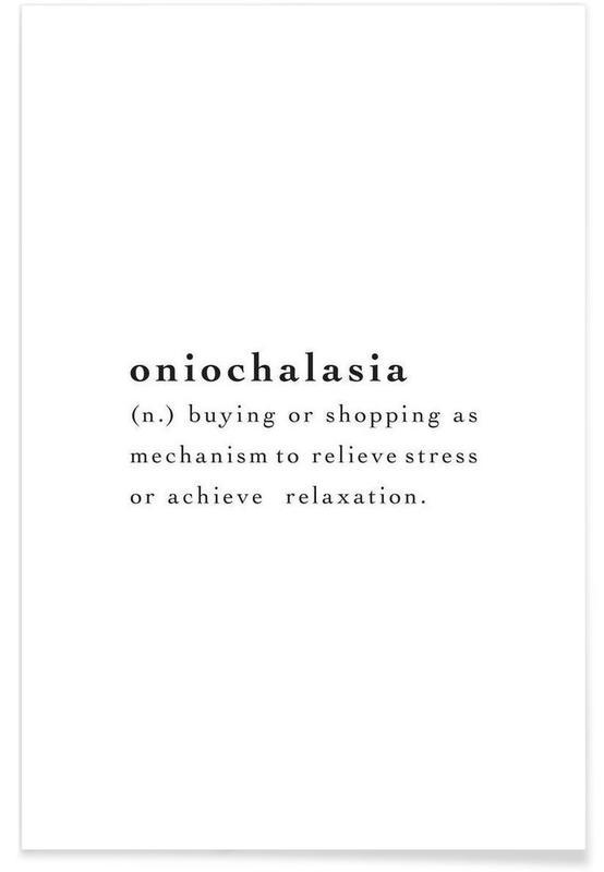 Noir & blanc, Citations et slogans, Oniochalasia affiche