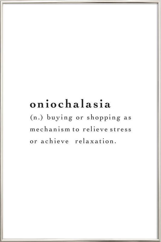 Oniochalasia -Poster im Alurahmen