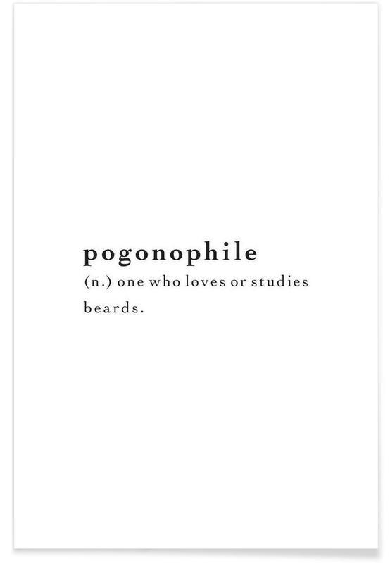 Sort & hvidt, Humor, Citater & sloganer, Pogonophile Plakat