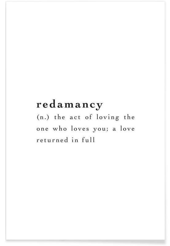Citations d'amour, Noir & blanc, Citations et slogans, Redamancy affiche