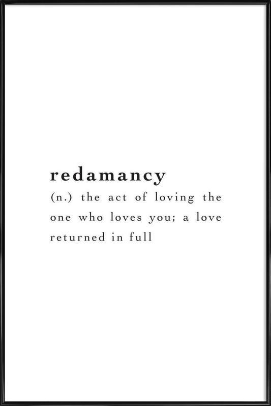 Redamancy affiche encadrée