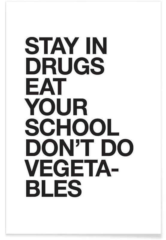Citater & sloganer, Sort & hvidt, Motiverende, Humor, Fatherly Advice Plakat
