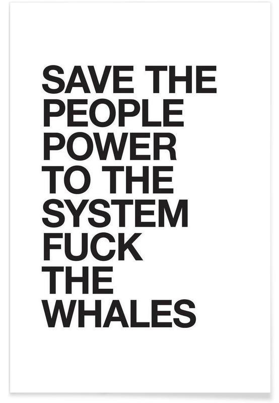 Sort & hvidt, Humor, Citater & sloganer, Hippie Advice Plakat