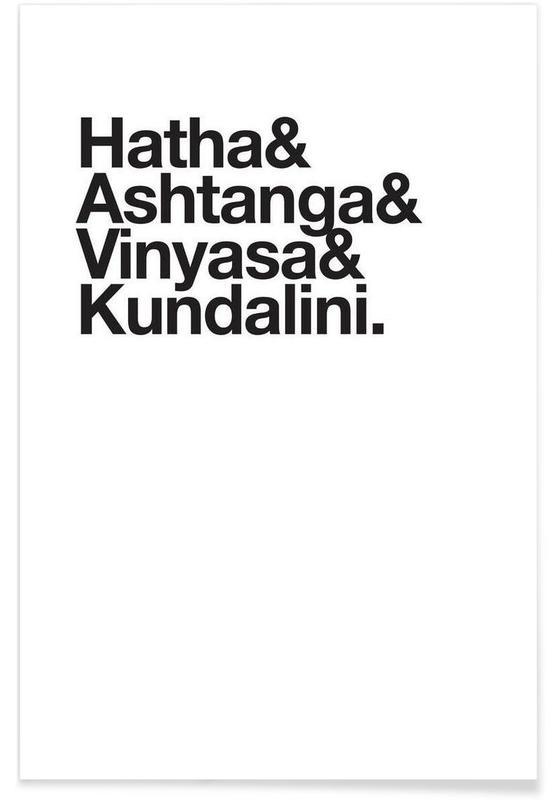 Sort & hvidt, Yoga, Yoga Plakat