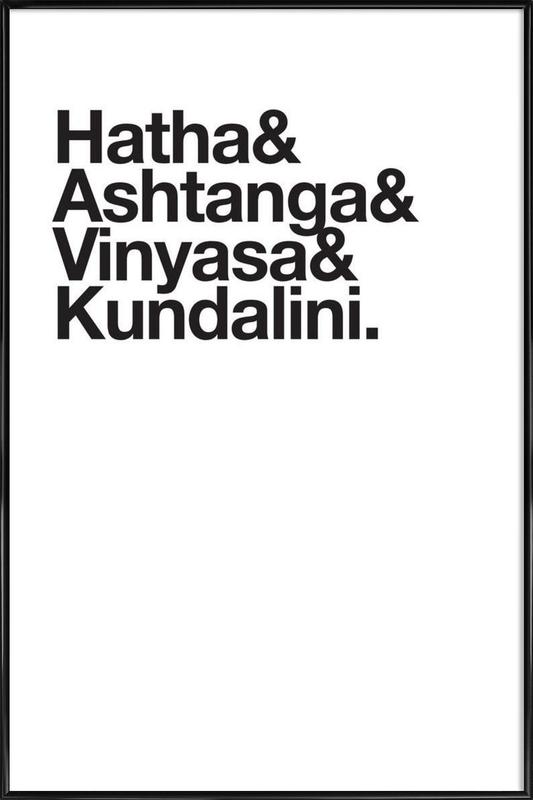 Yoga Poster i standardram